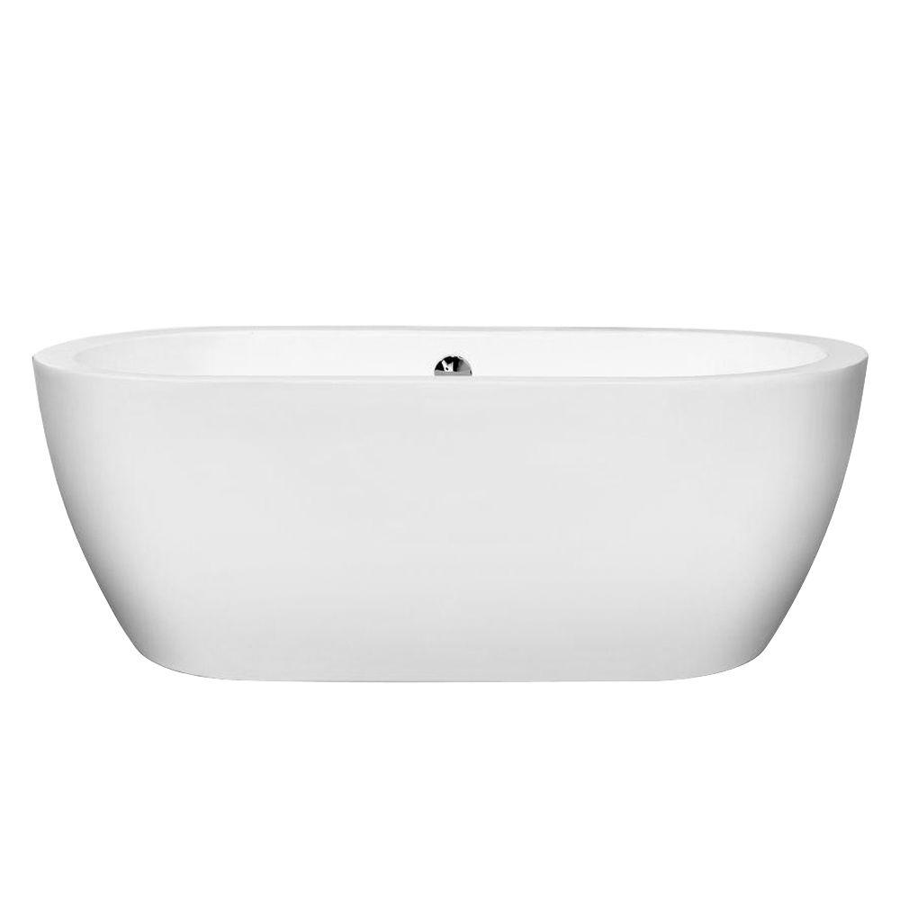Wyndham collection soho in acrylic flatbottom for Acrylic soaker tub