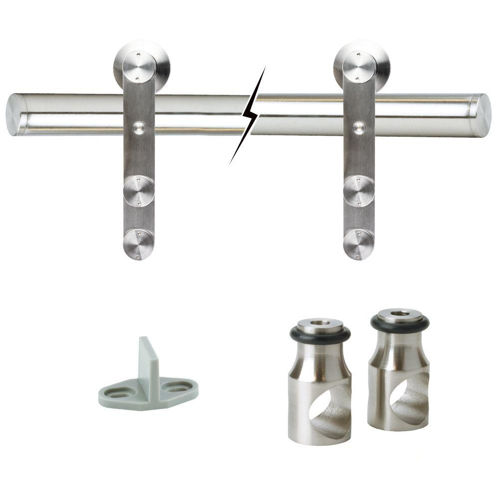 Beau Stainless Steel Sliding Barn Door Track And Hardware Kit