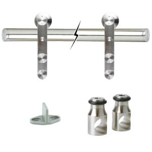 72 in. Stainless Steel Sliding Barn Door Track and Hardware Kit