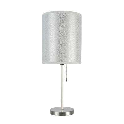 19 1 2 In Satin Nickel Candlestick Table Lamp