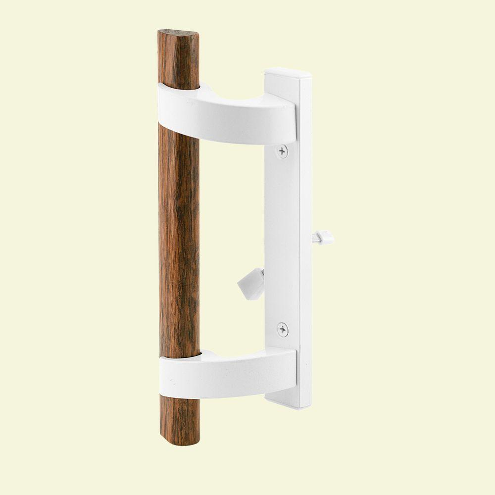 Sliding Door Handle with Mortise Lock, White