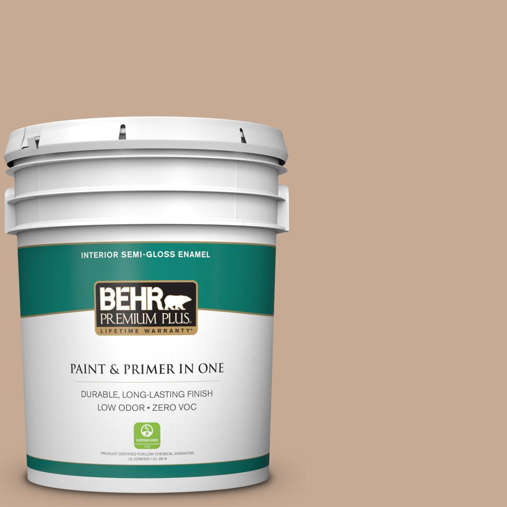 BEHR Premium Plus 5-gal. #ECC-42-1 Fox Hill Zero VOC Semi-Gloss Enamel Interior Paint