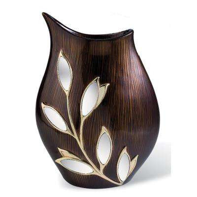Laurel Topaz Brown Polyresin Decorative Vase