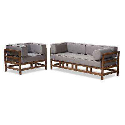 Shaw 2-Piece Grey Living Room Set