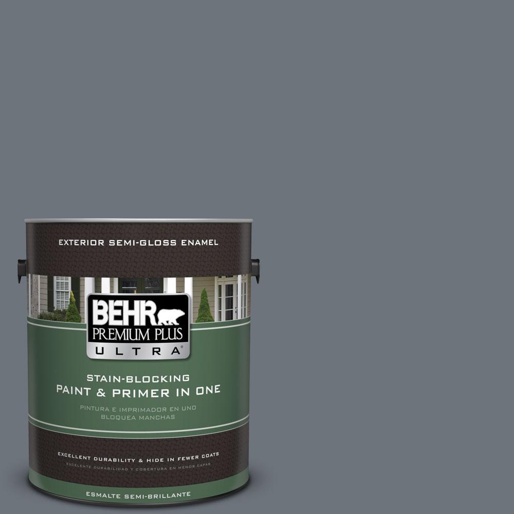 1-gal. #750F-5 Silver Hill Semi-Gloss Enamel Exterior Paint