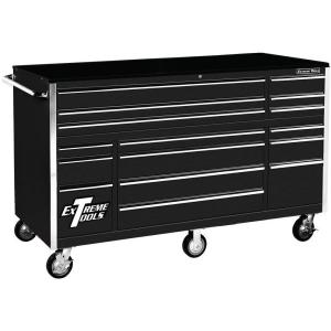 Click here to buy Extreme Tools THD Series 72 inch 16-Drawer Roller Cabinet Tool Chest, Black by Extreme Tools.