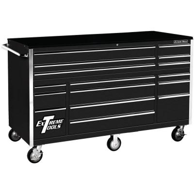 THD Series 72 in. 16-Drawer Roller Cabinet Tool Chest, Black