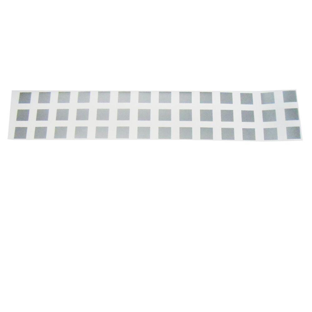 Frosted Blocks 0.012 in. W x 9 in. H Glass Etch Window Film