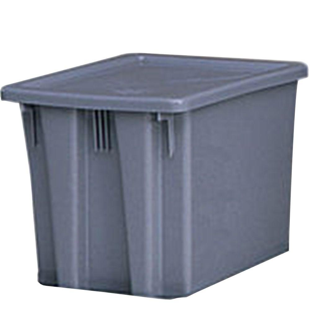 Rubbermaid Commercial Products 19-1/2 in. x 15-1/2 in. x 13 in. Gray Storage Box