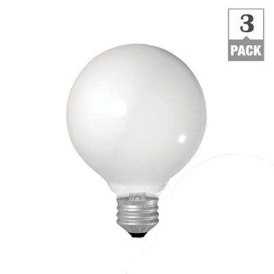 40-Watt Incandescent G25 Globe Double Life Soft White Light Bulb (3-Pack)