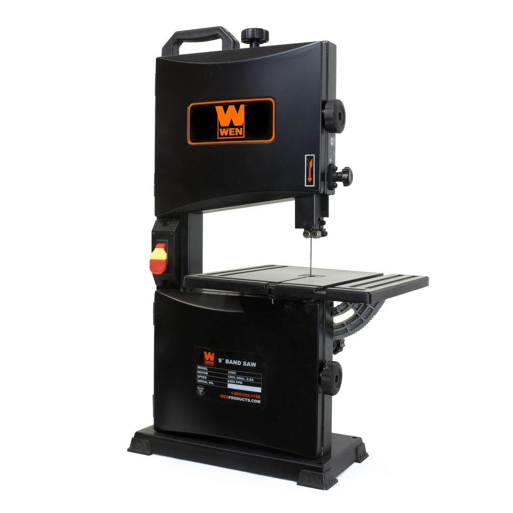 WEN 9 In 28 Amp Benchtop Band Saw 3960 The Home Depot