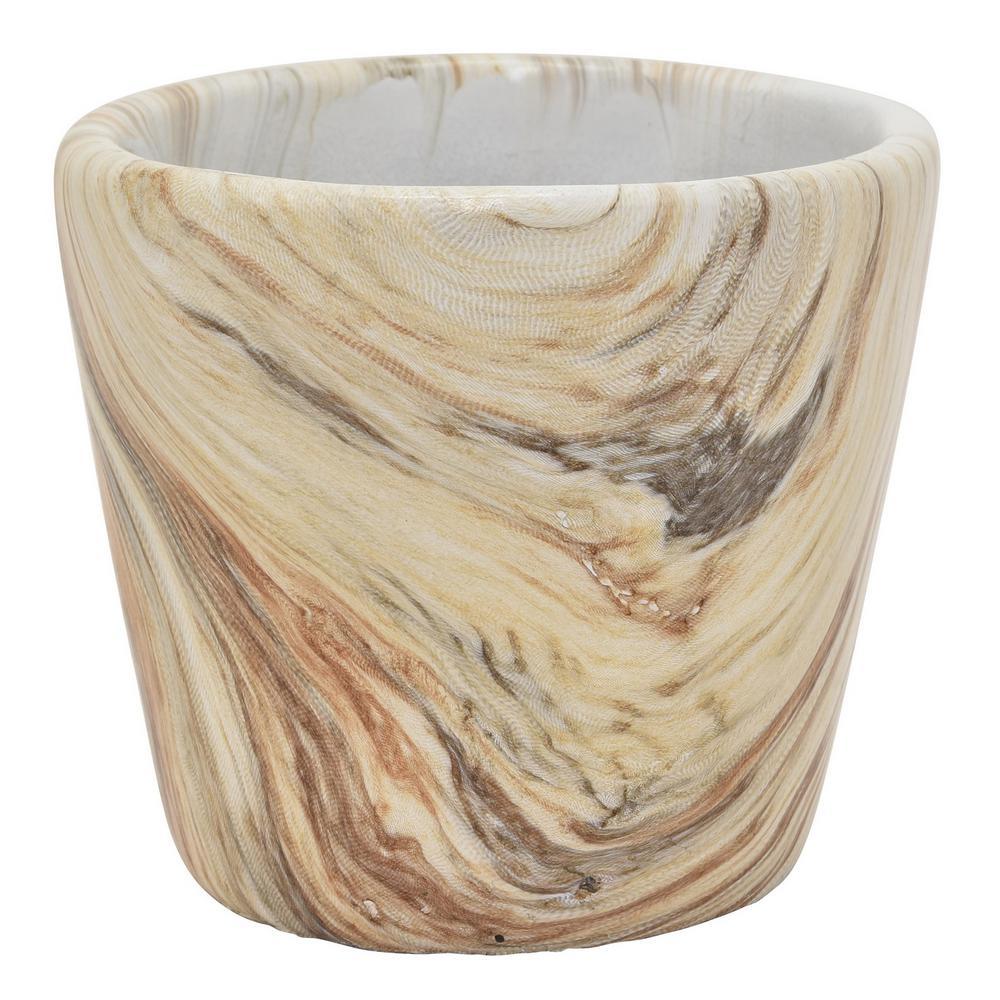 4.5 in. Marble Look Flower Pot