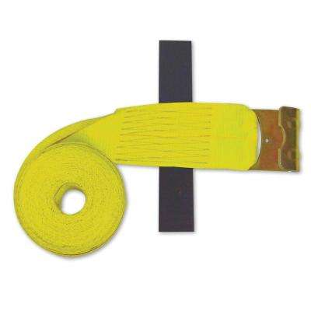 30 ft x 4 in. Flat-Hook Winch Strap in Yellow