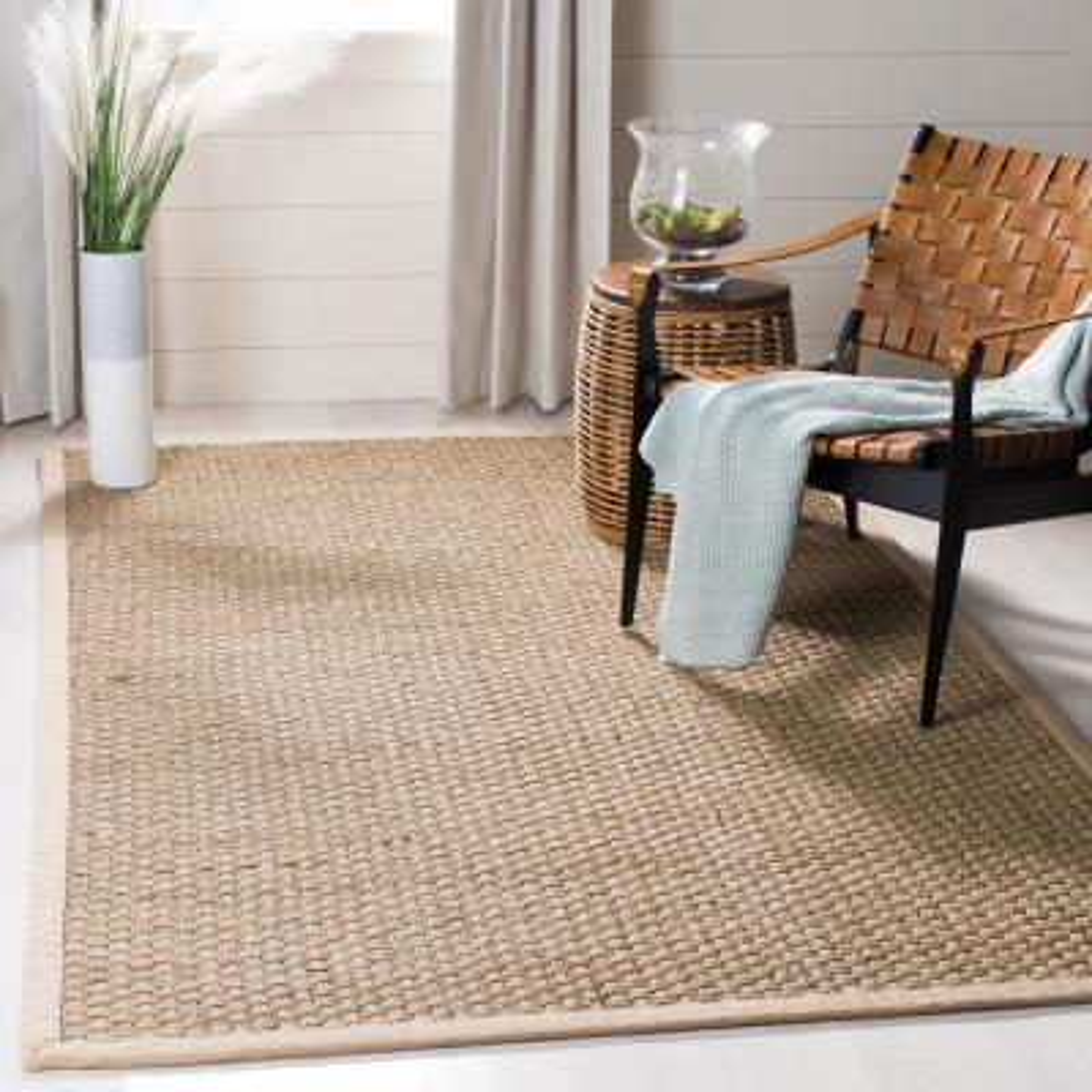 Natural Fiber Tan/Beige 3 ft. x 4 ft. Indoor Area Rug