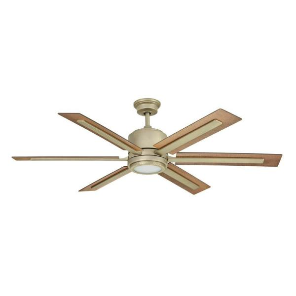 Home Decorators Collection Palermo Grove 60 In Integrated Led Indoor Antique Nickel Dual Mount Ceiling Fan With Light And Remote Control 7984hdcan The Home Depot
