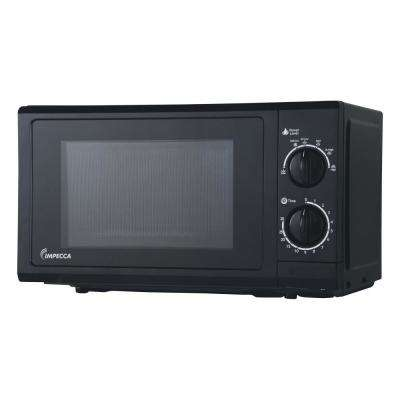 0.6 cu. ft. Countertop Microwave in Black