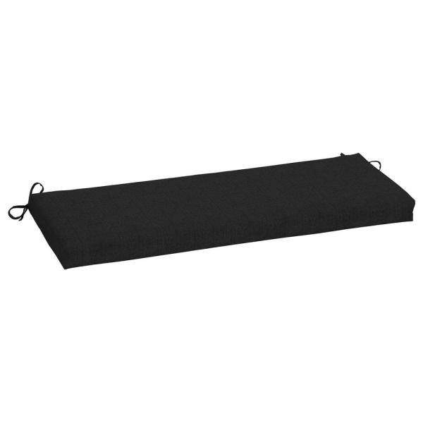 45 x 15 Sunbrella Canvas Black Outdoor Bench Cushion