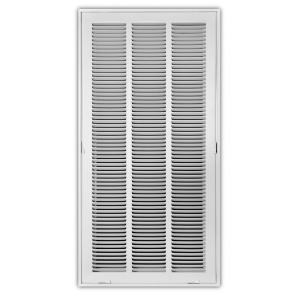 Everbilt 12 in  x 24 in  White Return Air Filter Grille-E190RF 12X24
