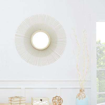 Wrenn Starburst Round Gold Decorative Mirror
