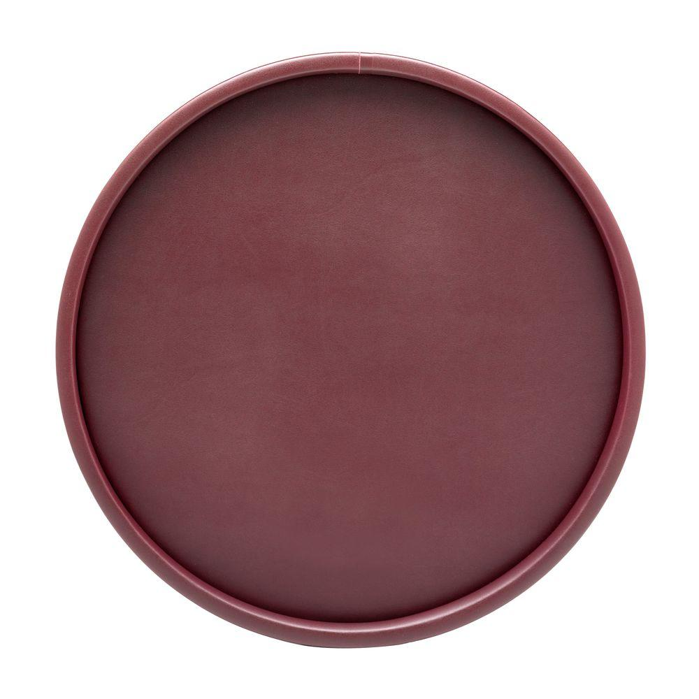 Kraftware SoHo Claret Leatherette Deluxe 14 in. Serving Tray