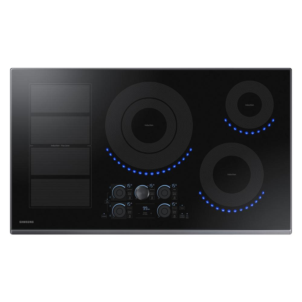 Samsung 36 in. Induction Cooktop with Black Stainless Ste...