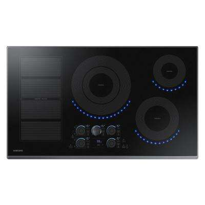 36 in. Induction Cooktop with Black Stainless Steel Trim with 5 Elements Including Flex Zone Element
