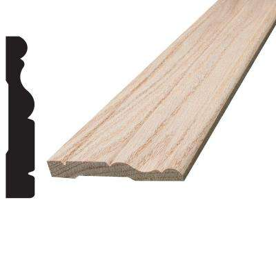 3/8 in. x 2-1/2 in. x 96 in. Oak Colonial Casing Moulding