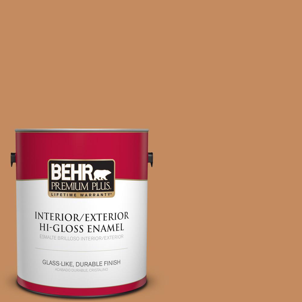 1 gal. #PPU3-13 Glazed Ginger Hi-Gloss Enamel Interior/Exterior Paint