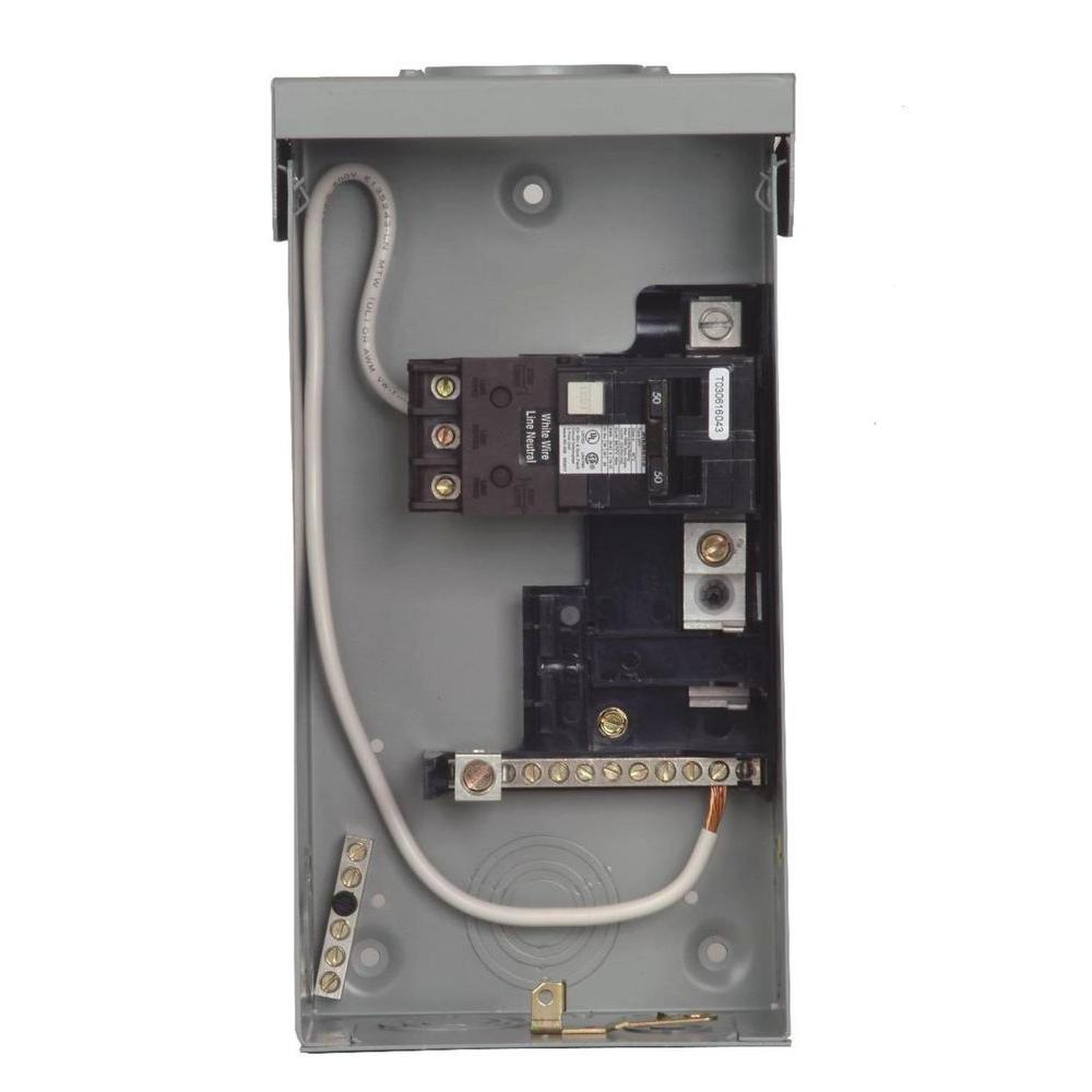 Siemens 125 Amp 4 Space 8 Circuit Main Lug Outdoor Spa Panel With 50 Gfci Internal Wiring Diagram Get Free Image About