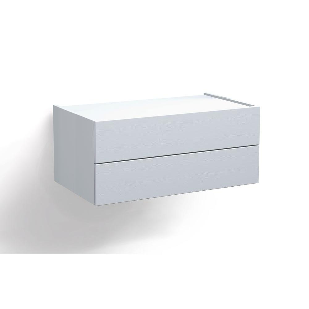 Space Pro Relax 36 in. White Double Drawer Box Kit