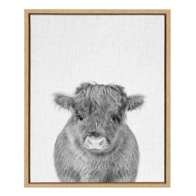 "Sylvie ""Calf 4"" by Tai Prints Framed Canvas Wall Art"