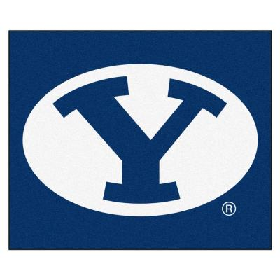 NCAA -Brigham Young University Blue 6 ft. x 5 ft. Indoor/Outdoor Tailgater Area Rug