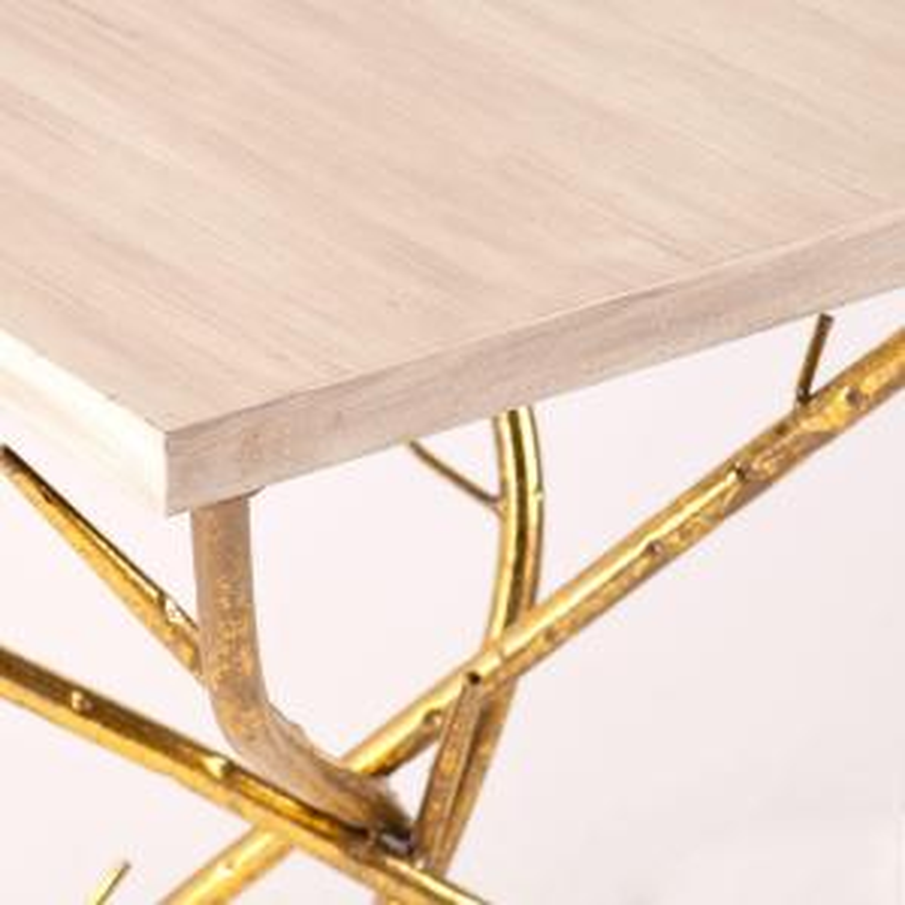 Southern Enterprises-Gulliver Metallic Gold End Table