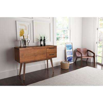 Cooper 20-Bottle Chestnut Bar Cabinet