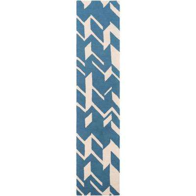 Hilda Annalise Denim Blue 2 ft. x 10 ft. Indoor Runner Rug