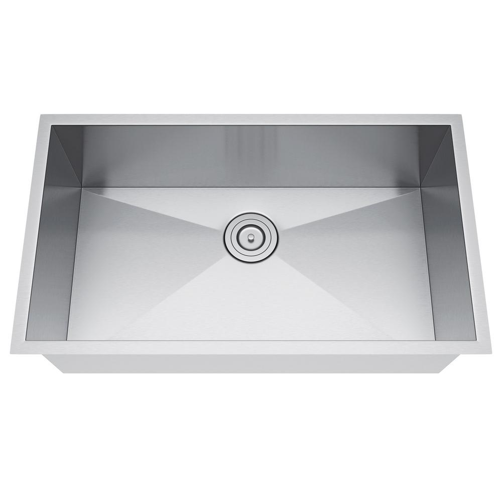 All-in-One Undermount Stainless Steel 33 in. Single Bowl ...