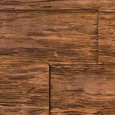 Superior Time Weathered 10 in. x 10 in. Faux Rustic Panel Siding Sample Custom Walnut