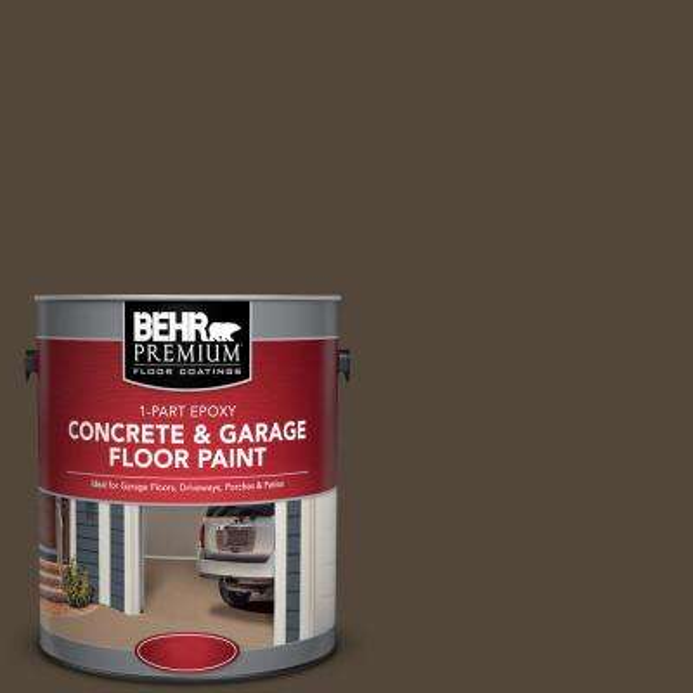 1 gal. #N210-7 Havana Coffee 1-Part Epoxy Concrete and Garage Floor Paint