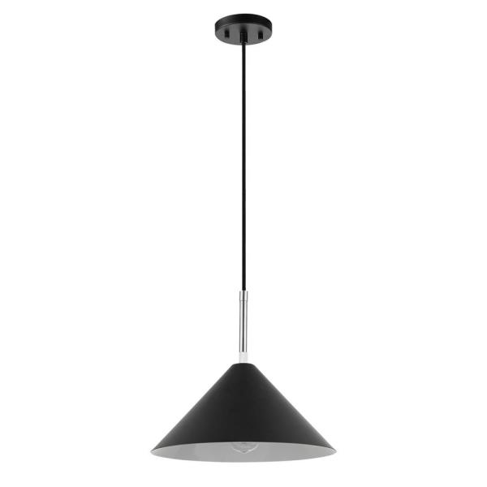 31 in. 1-Light Matte Black Pendant Light