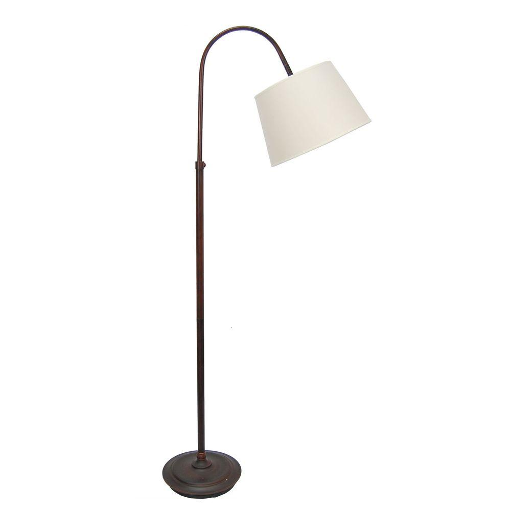62 in. Oil-Rubbed Bronze Adjustable Metal Arch Floor Lamp