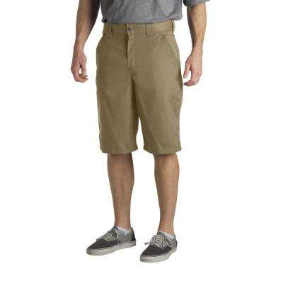 Regular Fit 32 in. x 13 in. Polyester Slant Multi-Pocket Short Desert Sand