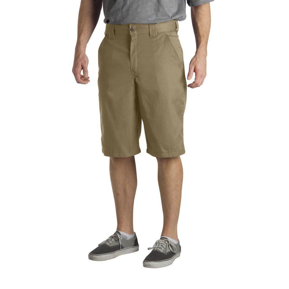 Dickies Regular Fit 42 in. x 13 in. Polyester Slant Multi-Pocket Short Desert Sand