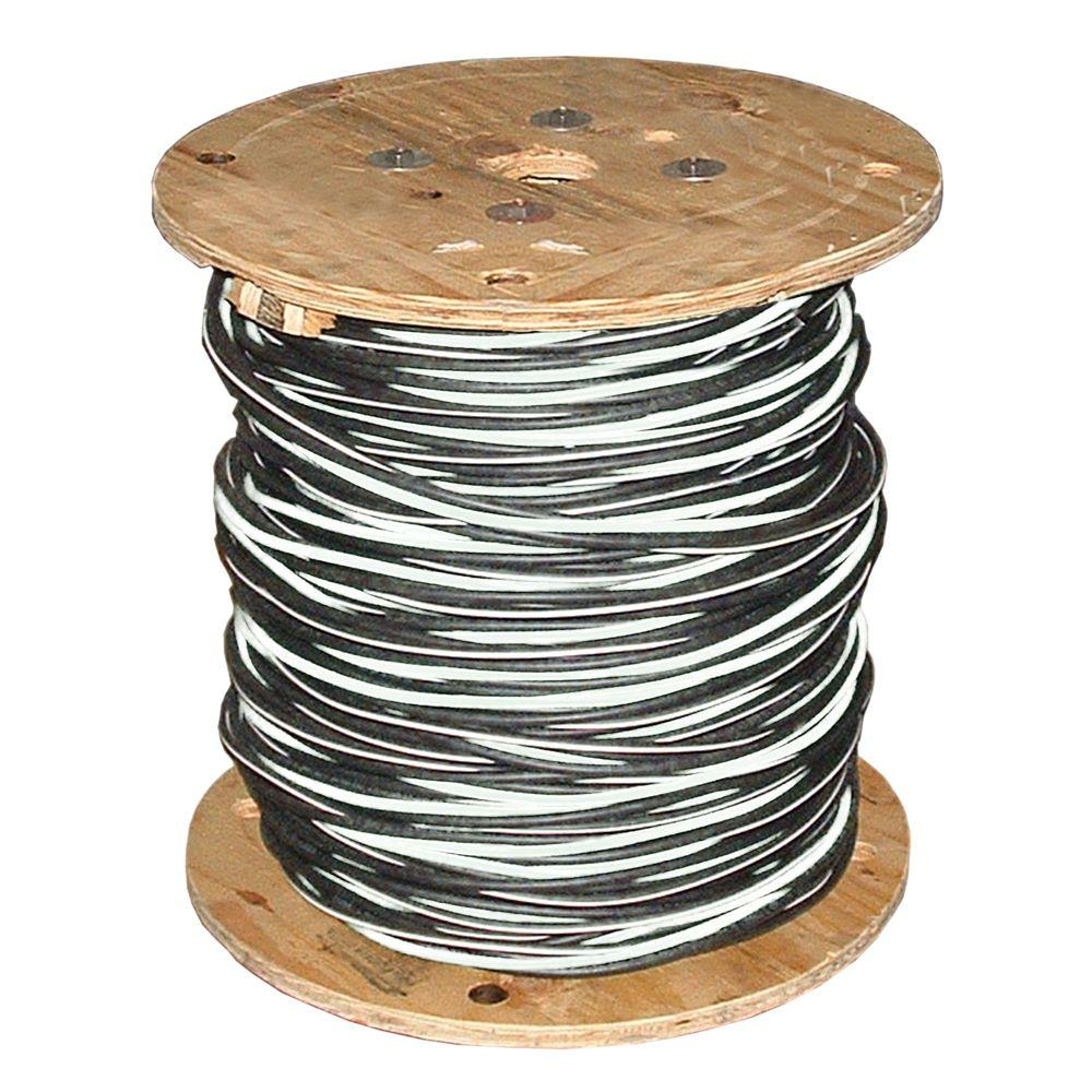 Southwire (By-the-Foot) 2-2-4 Black Stranded AL Stephens URD Cable ...