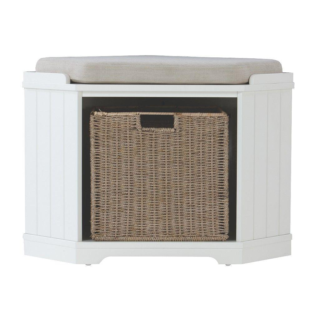 Home Decorators Collection Whitaker White Storage Bench