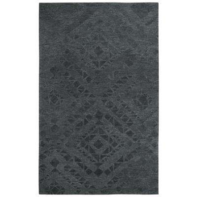 Fifth Avenue Dark Gray 9 ft. x 12 ft. Abstract Area Rug