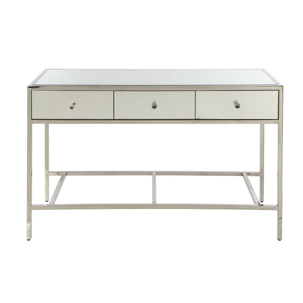 Weigela Mirrored and Chrome Sofa Table
