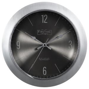 FirsTime & Co. Silver Steel Core Wall Clock