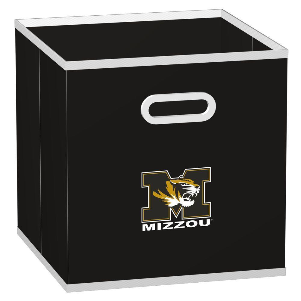 MyOwnersBox College STOREITS University of Missouri 10-1/2 in. x 10-1/2 in. x 11 in. Black Fabric Storage Drawer