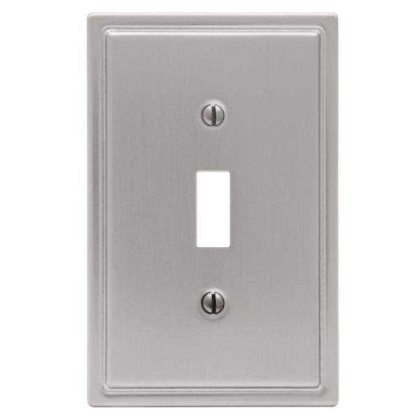 Amerelle Moderne 1 Gang Toggle Steel Wall Plate Brushed Nickel 148tbn The Home Depot