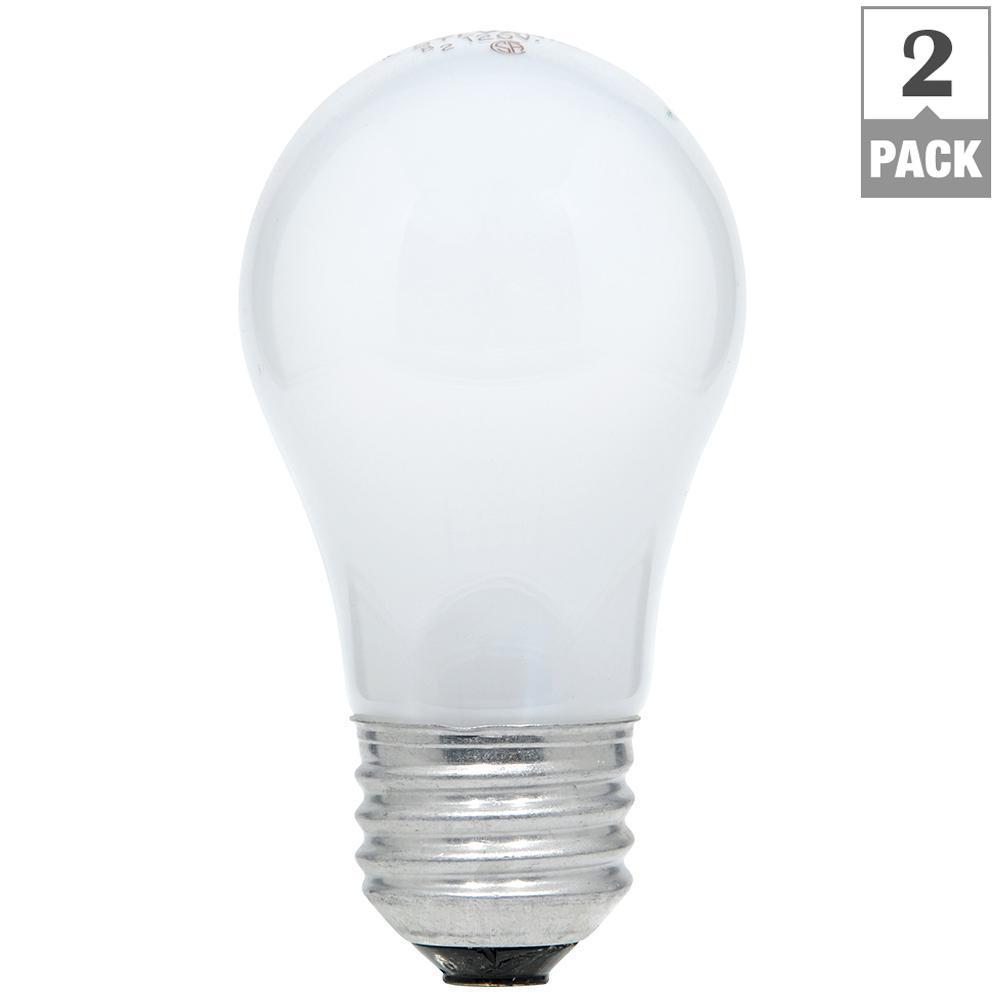 15-Watt A15 Incandescent Light Bulb (2-Pack)